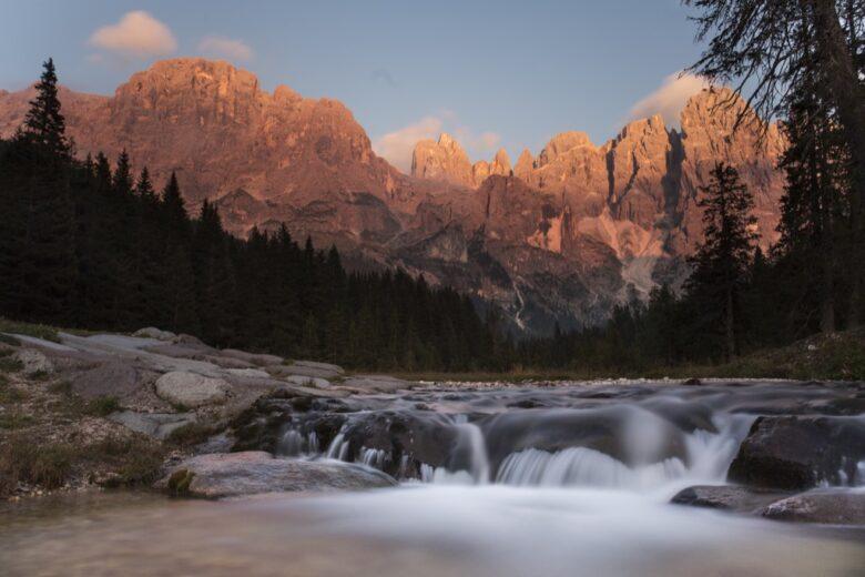 Enrosadira in Val Venegia